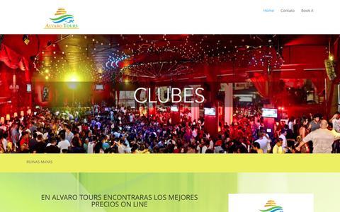 Screenshot of Home Page alvarotours.com - Alvaro Tours | Los mejores destinos de Cancún - captured Dec. 24, 2015