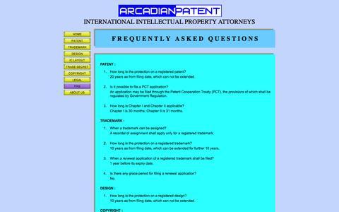 Screenshot of FAQ Page adp-law.com - FAQ - captured Feb. 5, 2016