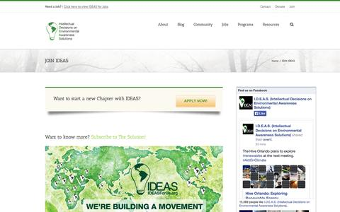 Screenshot of Signup Page ideasforus.org - IDEAS For Us   –  JOIN IDEAS - captured Sept. 30, 2014