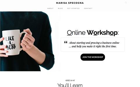 Screenshot of Home Page msiclick.com - MARISA SPECOGNA - When you have the freedom that an online business brings you, you can do whatever you want - captured Nov. 13, 2017