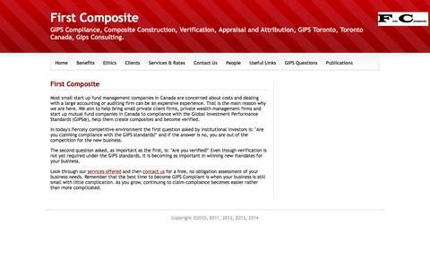 Screenshot of Home Page firstcomposite.com - Home - First Composite - captured Aug. 12, 2018