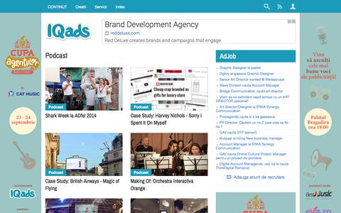 Screenshot of Case Studies Page iqads.ro - Podcast - captured Sept. 22, 2014
