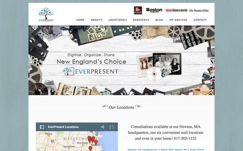 Screenshot of Locations Page everpresentonline.com - Our Locations - - captured Jan. 31, 2016