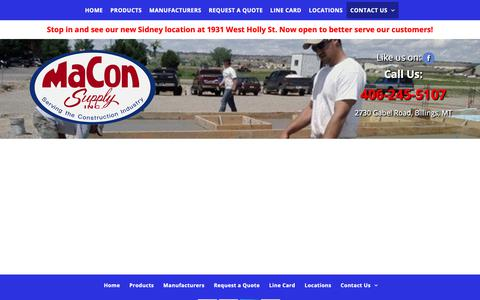 Screenshot of Jobs Page maconsupply.net - Concrete Accessories & Forming|MaCon Supply Inc. - captured Nov. 5, 2018