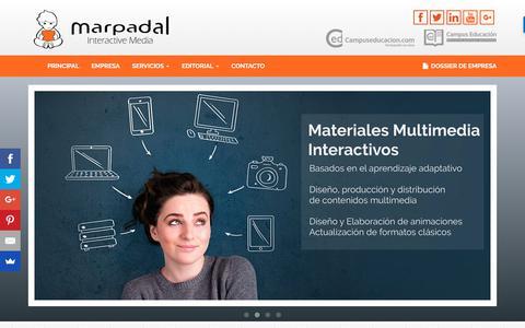 Screenshot of Home Page marpadal.com - Marpadal IM.- Formación online y Contenidos Multimedia - captured Oct. 17, 2017