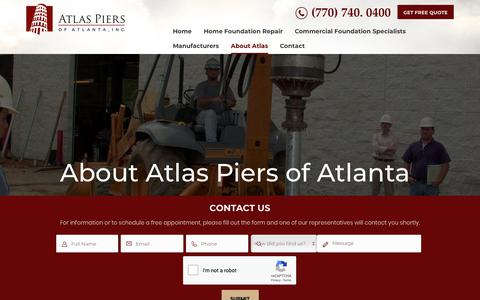 Screenshot of About Page atlaspiers.com - About Us   Atlas Piers of Atlanta, GA   Our Mission - captured Oct. 4, 2018