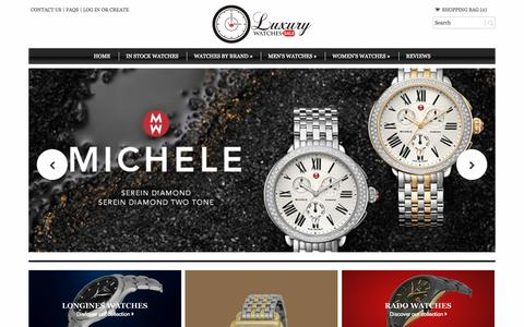 Screenshot of Home Page luxurywatches-sale.com - Buy Cartier watches, Rolex watches, Omega watches, Longines watches, Rado watches, Raymond Weil watches, Michele watches, Swiss watches, Luxury Watches for sale - captured Sept. 17, 2015
