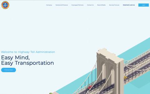 Screenshot of Home Page htallc.com - HTA | Toll & Violation Management Solutions for Fleets and Car Rentals Companies - captured Sept. 28, 2018