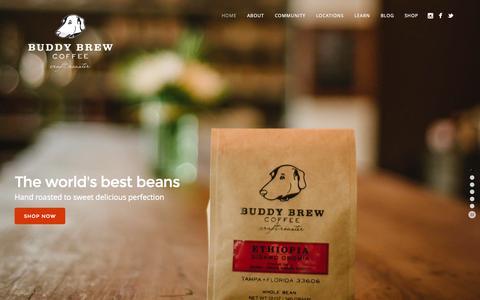 Screenshot of Home Page buddybrew.com - Buddy Brew Coffee - captured Jan. 21, 2015