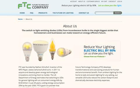 Screenshot of About Page ftcbulbs.com - About Us - captured Oct. 6, 2014