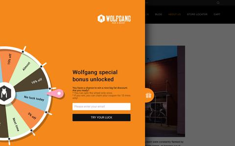 Screenshot of About Page wolfgangusa.com - About Us – Wolfgang Man & Beast - captured Oct. 18, 2018