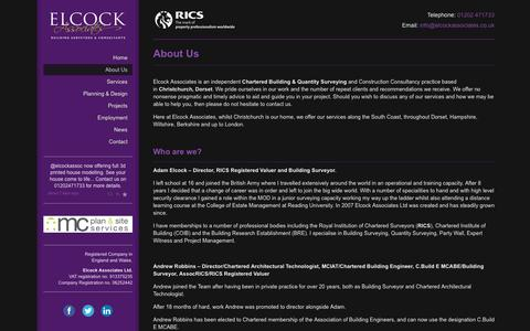 Screenshot of About Page elcockassociates.co.uk - About Us - Elcock Associates - captured Sept. 29, 2014