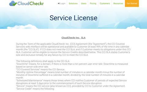Service License - CloudCheckr