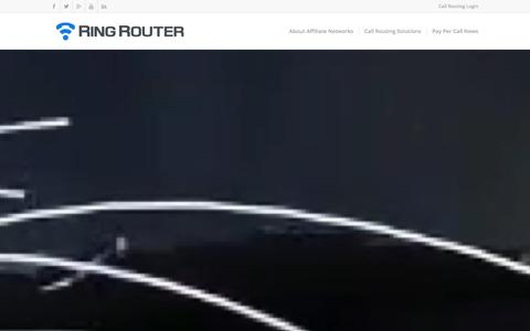 Screenshot of Home Page ringrouter.com - Pay Per Call Advertising for the Web and Mobile - Ring Router - captured Jan. 15, 2016