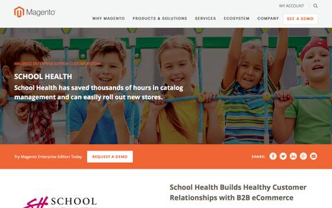 Screenshot of Case Studies Page magento.com - School Health | Magento - captured March 9, 2017