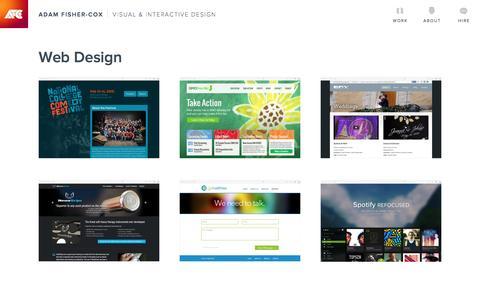 Work   Adam Fisher-Cox, Visual & Interactive Designer