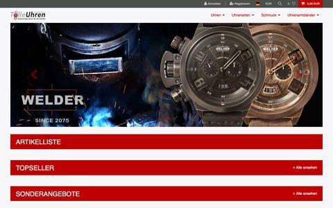 Screenshot of Home Page tolle-uhren.de - Ceres Webshop - captured Oct. 30, 2018