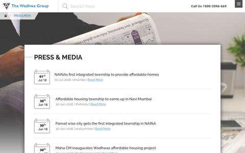 Screenshot of Press Page thewadhwagroup.com - Press & Media - The Wadhwa Group - captured Sept. 22, 2018