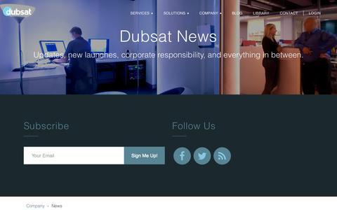 Screenshot of Press Page dubsat.com - Dubsat | News | Dubsat - captured Nov. 6, 2015