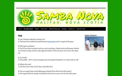 Screenshot of FAQ Page sambanova.org - FAQ | - captured Feb. 4, 2016