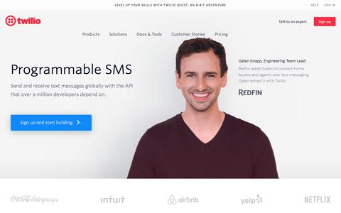 SMS by Twilio -  Global Short Message Service API - Free Signup
