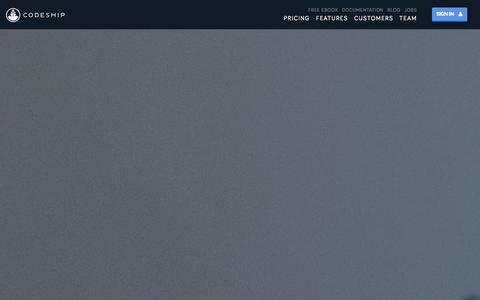 Screenshot of Pricing Page codeship.io - Pricing | Codeship - captured Sept. 13, 2014