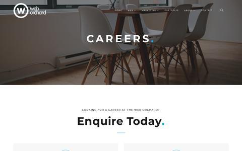 Screenshot of Jobs Page theweborchard.com - Careers | The Web Orchard | Web Design Shrewsbury - captured Jan. 14, 2018