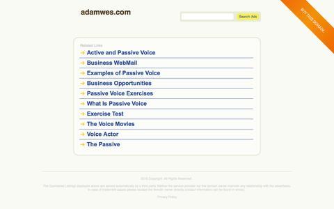 Screenshot of Home Page adamwes.com - adamwes.com - captured Feb. 5, 2016