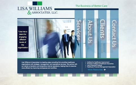 Screenshot of Home Page lisawilliamsassociates.com - Lisa Williams & Associates, LLC. - captured Oct. 2, 2014