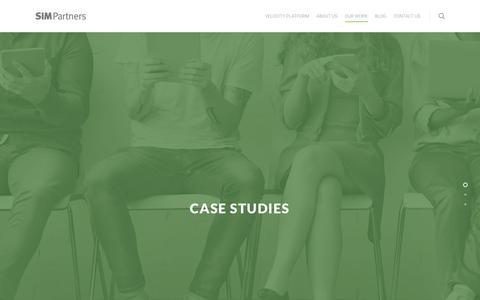 Screenshot of Case Studies Page simpartners.com - Case Studies | SIM Partners | SIM Partners - captured Nov. 30, 2017