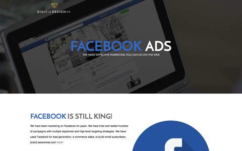 Screenshot of Landing Page thedigitaldesignco.com captured Sept. 8, 2016
