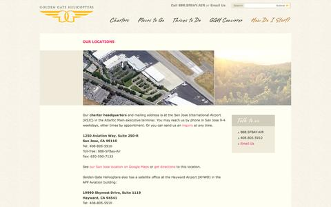 Screenshot of Locations Page goldengatehelicopters.com - Locations   Golden Gate Helicopters - captured Sept. 30, 2014
