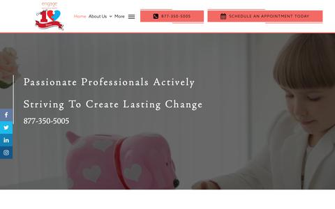 Screenshot of Home Page engagebehavioralhealth.com - Applied Behavior Analysis, ABA Therapy Tampa - Engage Behavioral Health - captured Feb. 22, 2019