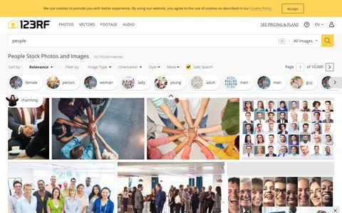 Screenshot of Team Page 123rf.com - People Stock Photos And Images - 123RF - captured Aug. 3, 2019