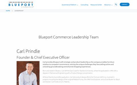 Screenshot of Team Page blueport.com - Leadership - Blueport Commerce - captured Oct. 6, 2018