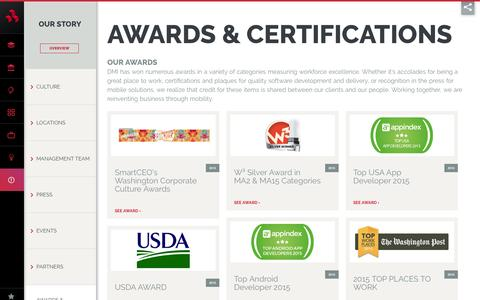 Awards & Certifications - DMI