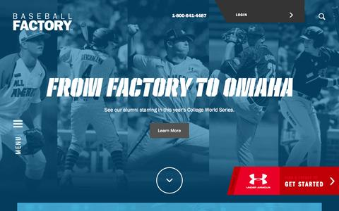 Screenshot of Home Page baseballfactory.com - Baseball Factory   Under Armour Baseball   College Recruiting - captured June 17, 2015