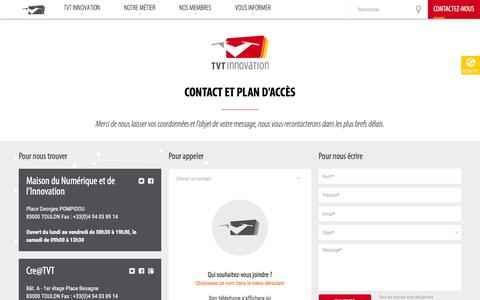 Screenshot of Contact Page tvt.fr - Contact - captured Feb. 24, 2016