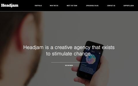 Screenshot of Home Page headjam.com.au - Headjam Creative Agency | Newcastle, NSW - captured July 20, 2015