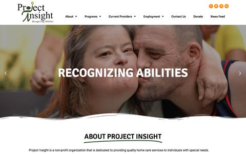 Screenshot of Home Page projectinsight-az.com - Project Insight – Recognizing Abilities - captured July 6, 2019