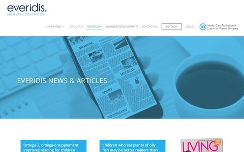 Screenshot of Press Page everidis.com - Newsroom - Everidis - captured Nov. 12, 2016