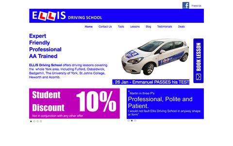 Screenshot of Home Page ellisdrivingschool.co.uk - Driving Lessons in York | ELLIS Driving School - captured May 12, 2017