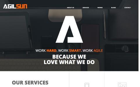 Screenshot of Home Page agilsun.com - Agilsun - captured Jan. 27, 2015