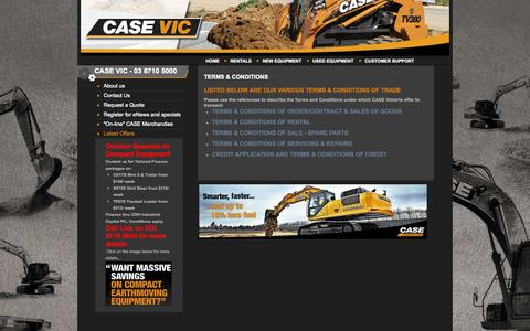 Screenshot of Terms Page casevic.com.au - Terms & Conditions - captured Nov. 1, 2014