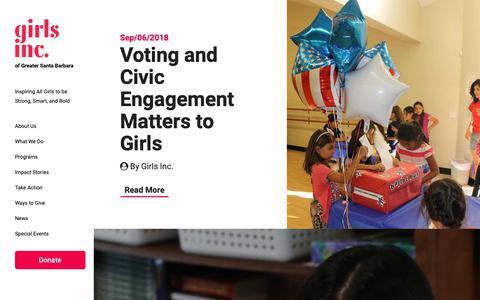 Screenshot of Blog girlsincsb.org - Blog Archive   Girls Inc. of Greater Santa Barbara - captured Sept. 28, 2018