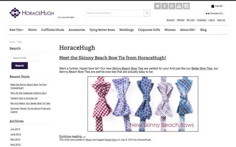 Screenshot of Blog horacehugh.com - HoraceHugh - captured Dec. 12, 2015