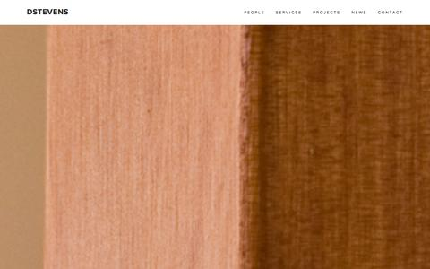 Screenshot of Home Page dstevens.co.nz - DStevens - captured Jan. 28, 2016