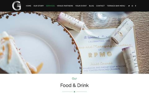 Screenshot of Services Page gtexascatering.com - Catering and Bar Menus | Dallas, Texas | G Texas Catering - captured July 14, 2018