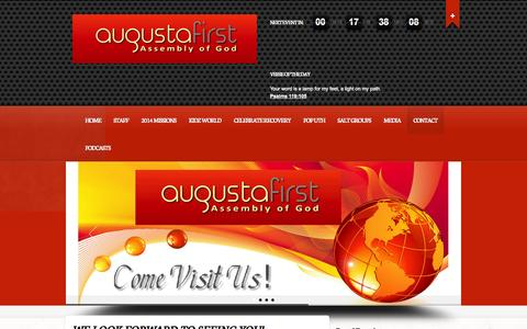 Screenshot of Contact Page augustafirst.org - Contact - Augustafirst - captured Oct. 4, 2014