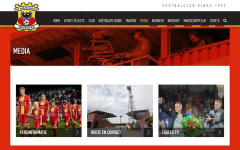 Screenshot of Press Page ga-eagles.nl - Media - Go Ahead Eagles - captured Sept. 29, 2018